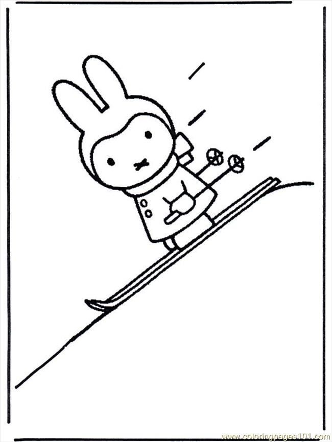 Miffy Sugli Sci B617 Coloring Page - Free Miffy Coloring Pages ...