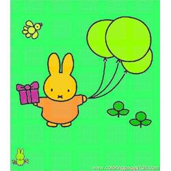 Miffy 008 coloring page