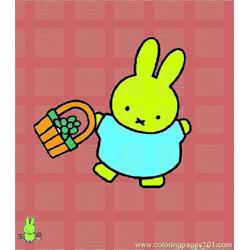 Miffy 010 coloring page