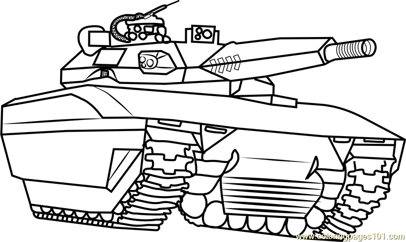 Army Tank Coloring Page - Free Tanks Coloring Pages ...
