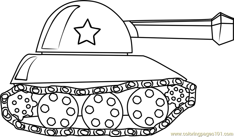 Tank for Kids Coloring Page