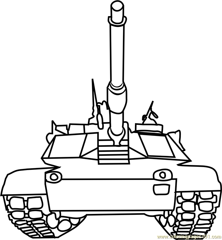 Tanks front view Coloring Page