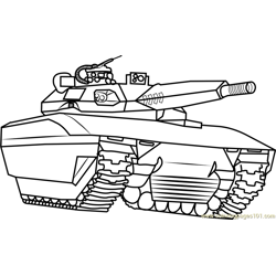 Army Tank Free Coloring Page for Kids