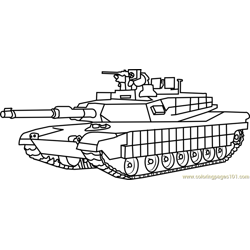 M1 Abrams Army Tank coloring page
