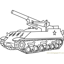 M43 Army Tank Free Coloring Page for Kids