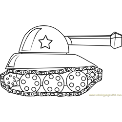 Tank for Kids Free Coloring Page for Kids