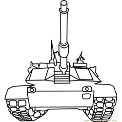 Tanks front view Free Coloring Page for Kids