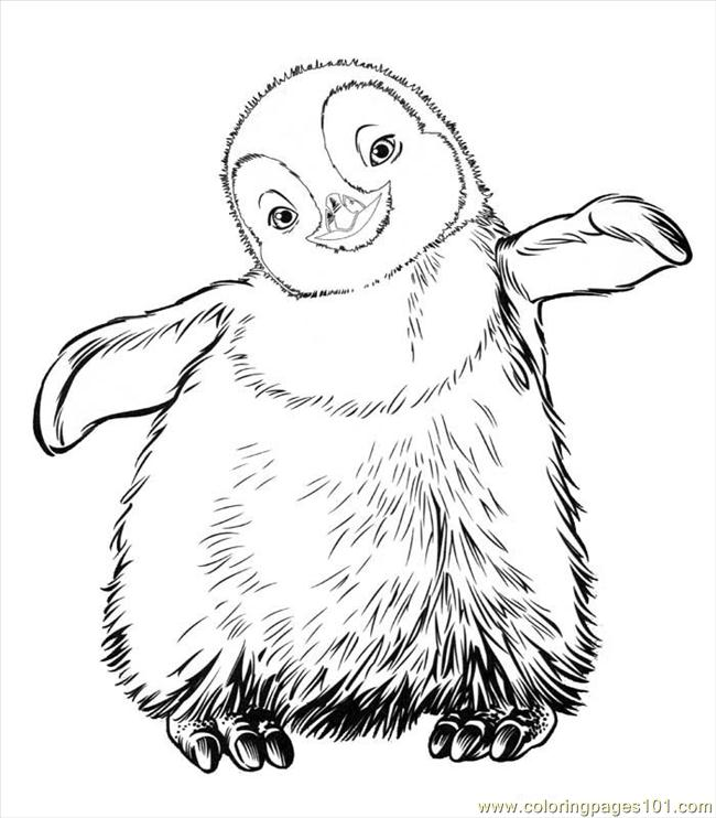 Happy Feet (04) Coloring Page