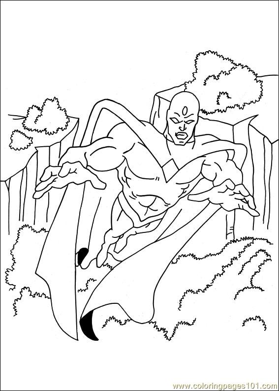 Captain America 05 Coloring Page
