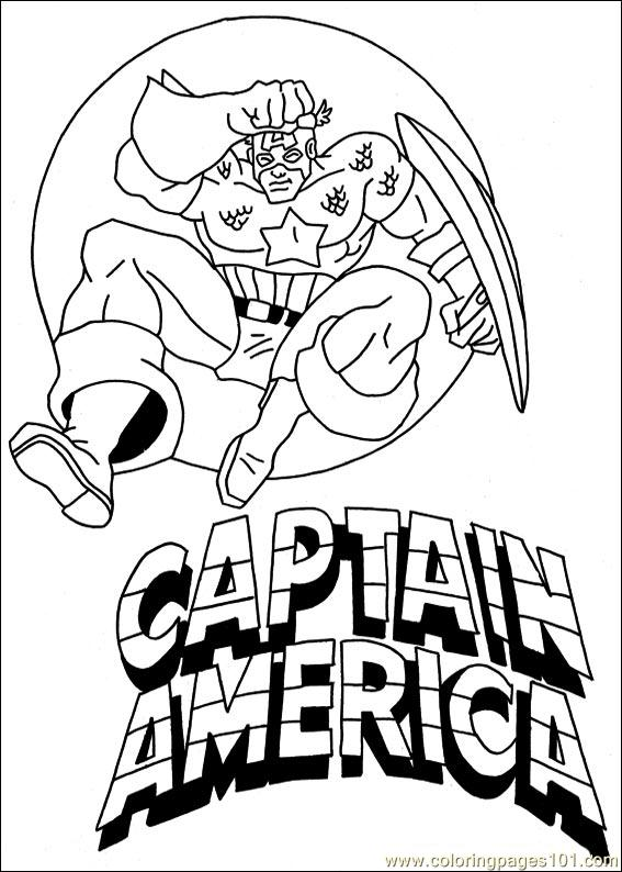 Captain America 11 Coloring Page