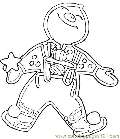 Christmas Gingerbread Man coloring page | Free Printable Coloring Pages | 466x400