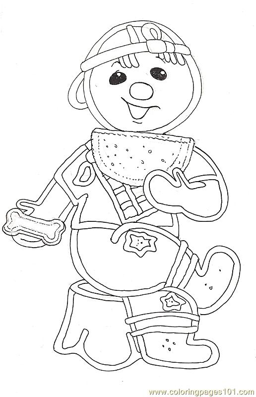 Gf Mural Gingerbread Barefoot Reversed Coloring Page