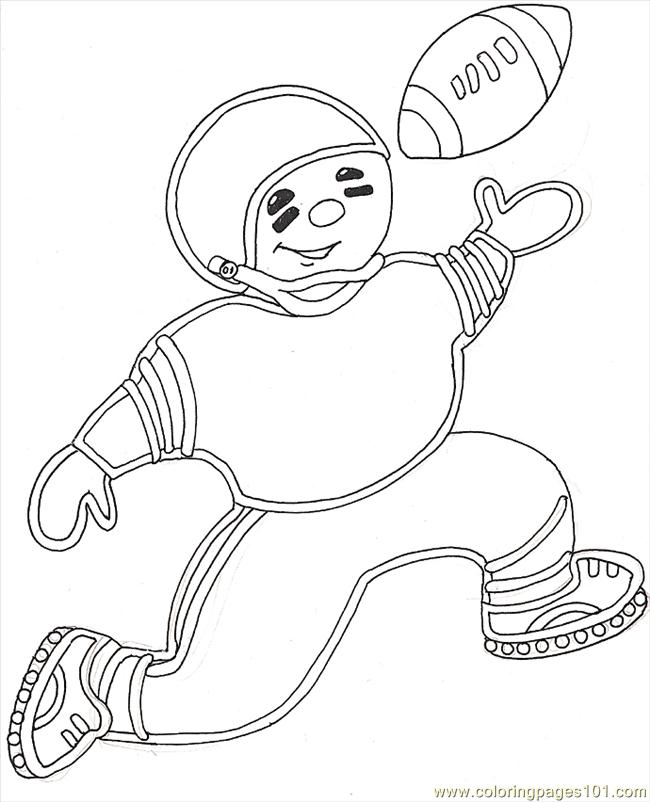 Gf Mural Gingerbread Football Boy Coloring Page