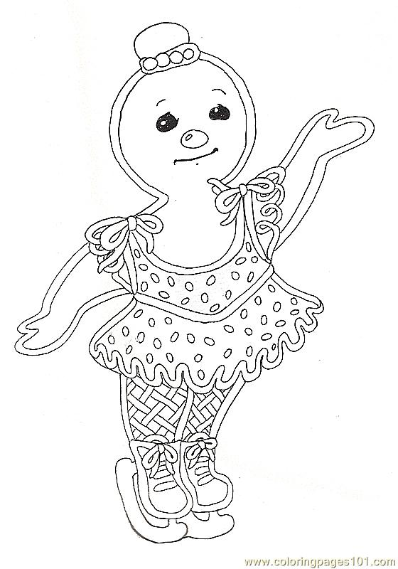 Gf Mural Gingerbread Girl Coloring Page Free Miscellaneous