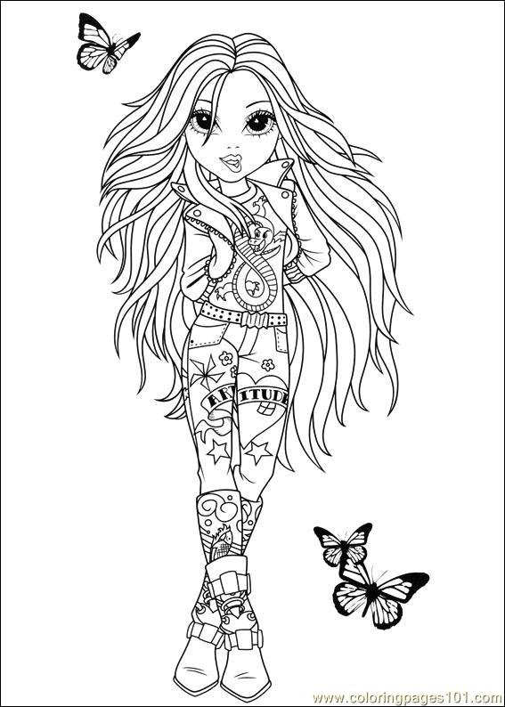 Moxie Girlz 03 Coloring Page Free Miscellaneous Coloring