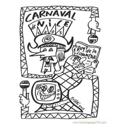 Carnaval07 Free Coloring Page for Kids