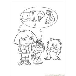 Dora 06 Free Coloring Page for Kids