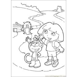 Dora 07 Free Coloring Page for Kids