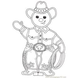 Gf Mural Buckaroo Gingerbread Boy Reversed