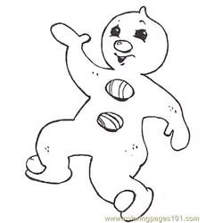 Gf Mural Gingerbread Baby Pizzazz Reversed Free Coloring Page for Kids