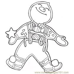 Gf Mural Gingerbread Baby Reversed Free Coloring Page for Kids