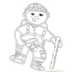 Gf Mural Hiker Gingerbread Baby Reversed Free Coloring Page for Kids