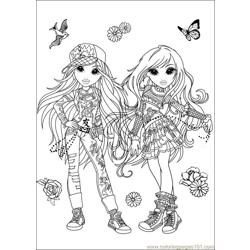 Moxie Girlz 07 coloring page