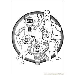 Yo Gabba Gabba 02 Free Coloring Page for Kids