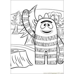 Yo Gabba Gabba 03 Free Coloring Page for Kids