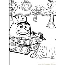 Yo Gabba Gabba 04 Free Coloring Page for Kids
