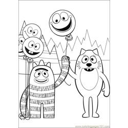 Yo Gabba Gabba 05 Free Coloring Page for Kids
