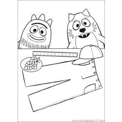 Yo Gabba Gabba 06 Free Coloring Page for Kids