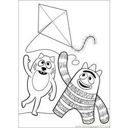 Yo Gabba Gabba 07 Free Coloring Page for Kids