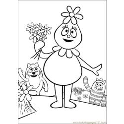 Yo Gabba Gabba 08 Free Coloring Page for Kids