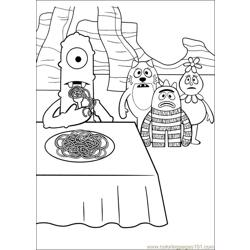 Yo Gabba Gabba 11 Free Coloring Page for Kids