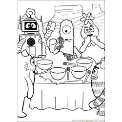 Yo Gabba Gabba 12 Free Coloring Page for Kids