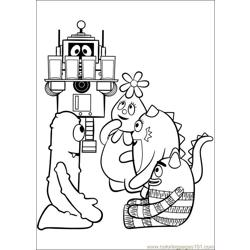 Yo Gabba Gabba 14 Free Coloring Page for Kids