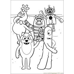 Yo Gabba Gabba 15 Free Coloring Page for Kids