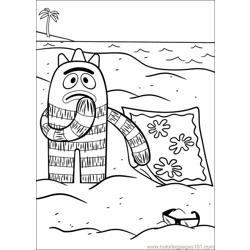 Yo Gabba Gabba 16 Free Coloring Page for Kids