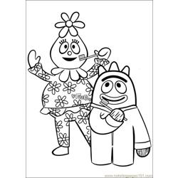 Yo Gabba Gabba 18 Free Coloring Page for Kids
