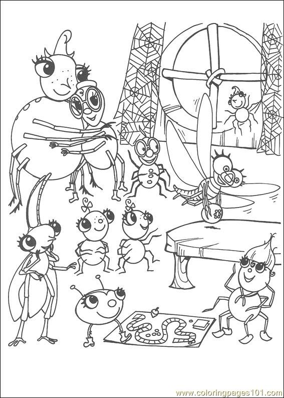 Miss Spider 23 Coloring Page