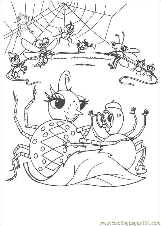 Miss Spider 24 Coloring Page