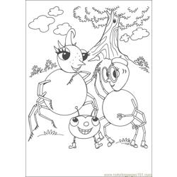 Miss Spider 22 coloring page