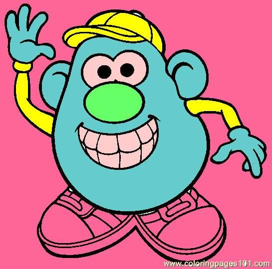 Mr Potato Head 013 Coloring Page - Free Mister Potato Coloring Pages ...