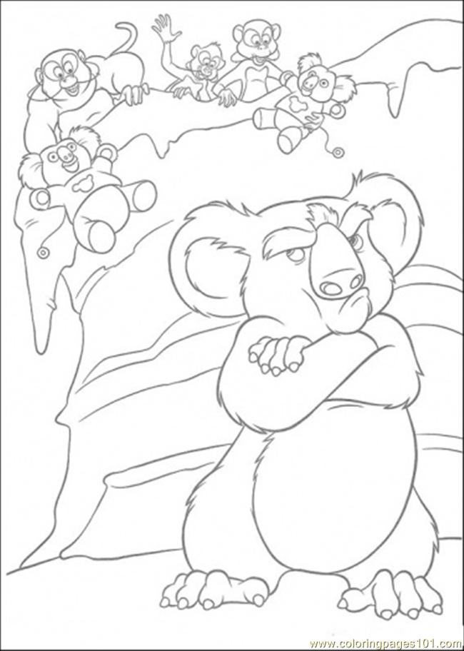 And The Monkey Coloring Page Coloring Page
