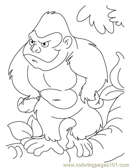Ape Coloring Page6 Coloring Page Free Monkey Coloring