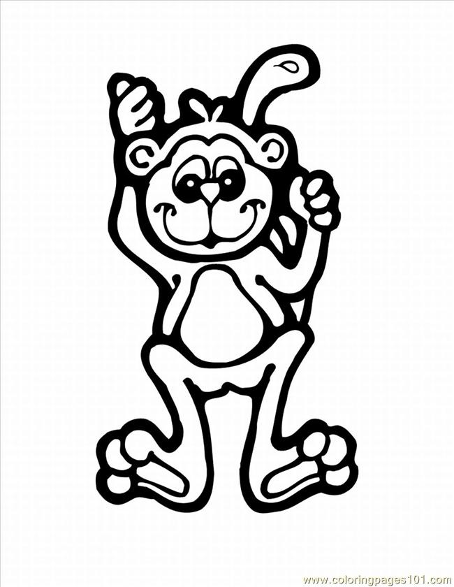 Cloring Pages Of Monkeys 7 Lrg Coloring Page