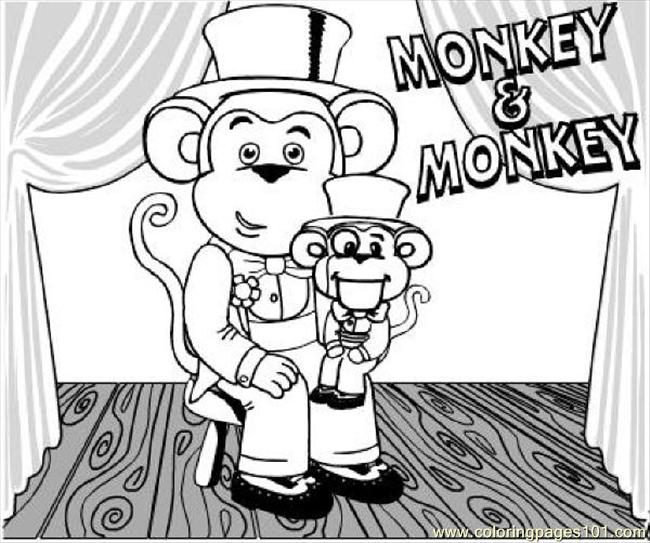 Color Monkey1 Coloring Page