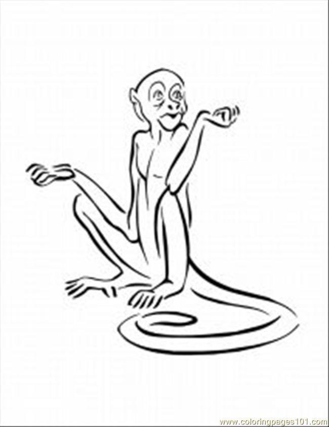 Der Monkey Coloring Pages Med Coloring Page