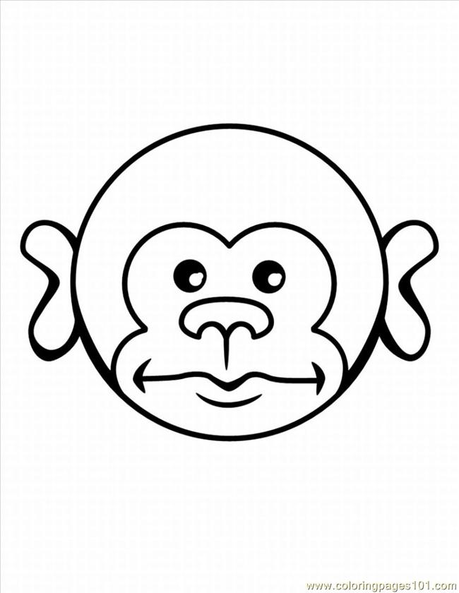 E Monkey Coloring Pages 5 Lrg Coloring Page